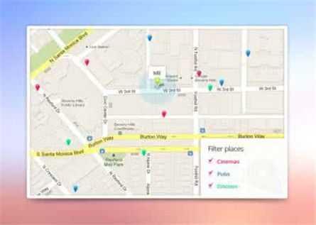 手机导航地图